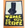 David Pe - Time to say Peace - Linoldruck - Ohne Rahmen